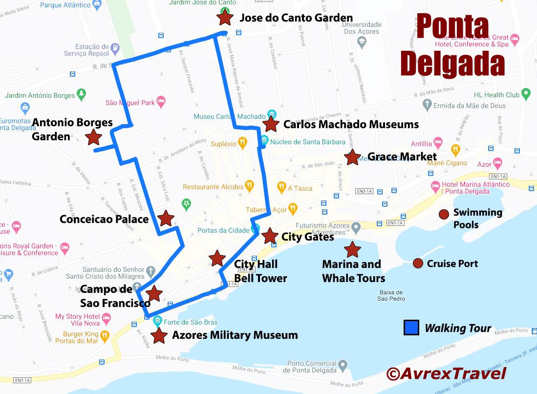 Ponta Delgada Map