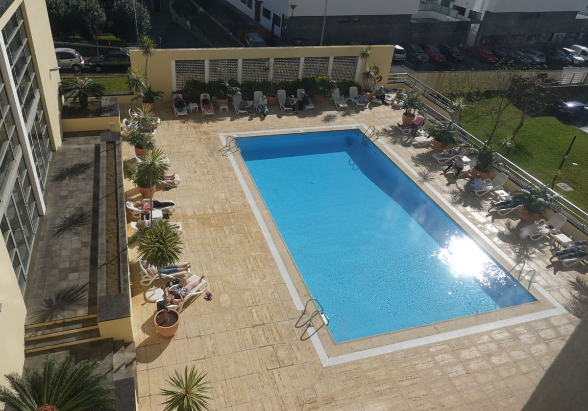 Aerial view Park Hotel deck swimming pool