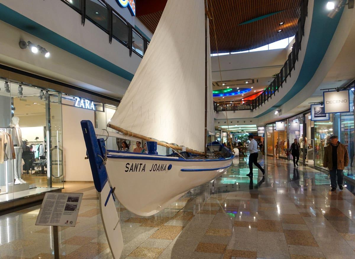 Sailboat middle of Parque Atlantico shopping center