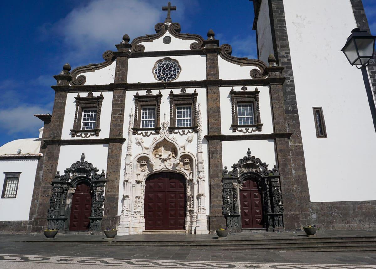 Front Sao Sebastiao Church Ponta Delgada