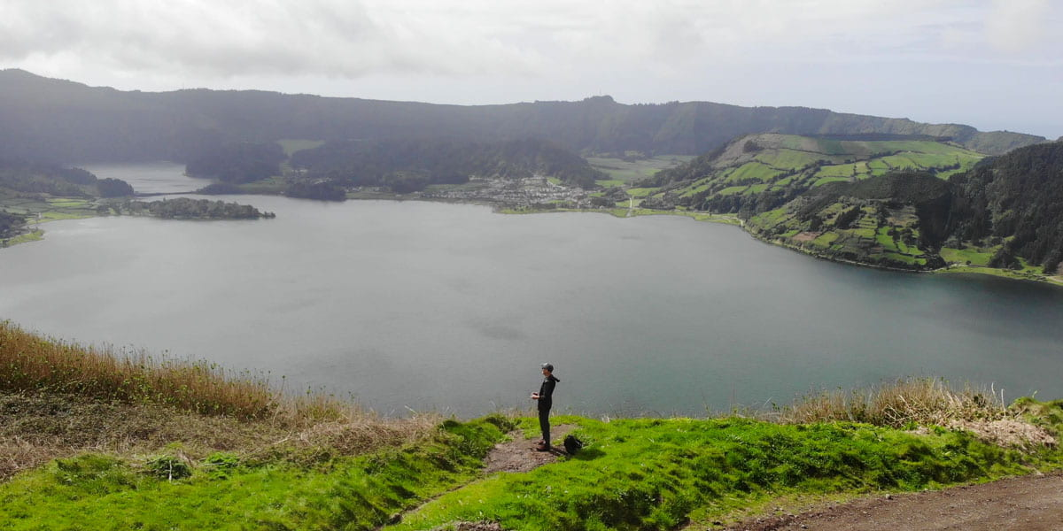Blue Overlooking Lake Cumeeiras Viewpoint Sete Cidades