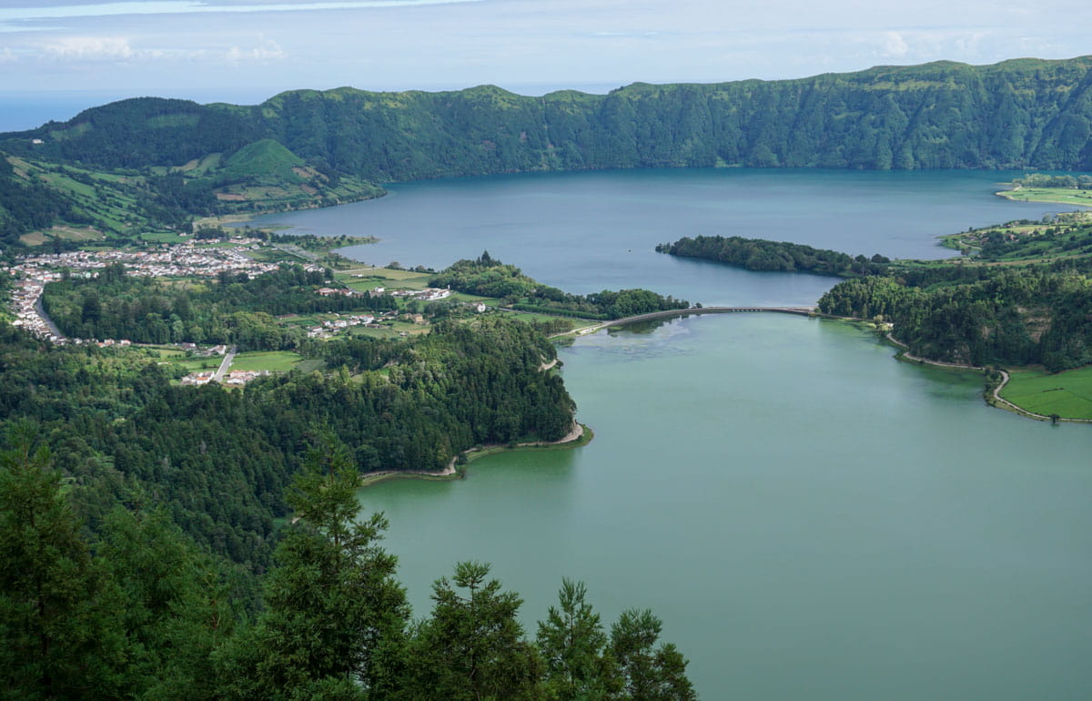Sete Cidades Lake and village