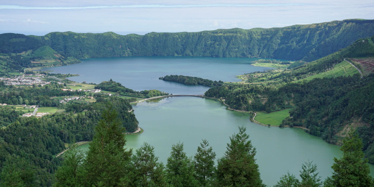 Sete Cidades Lake and village Azores
