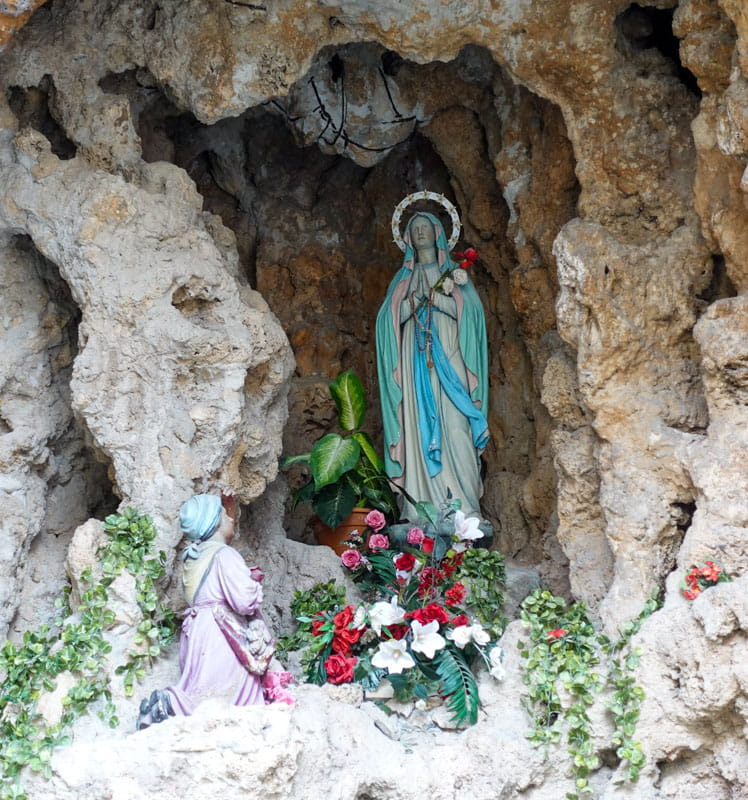 Statue of Virgin Mary Cave of Our Lady Lourdes