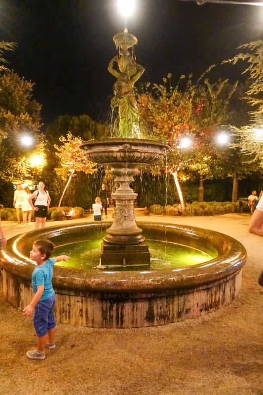 Fountain Rober Visiani Park Sibenik