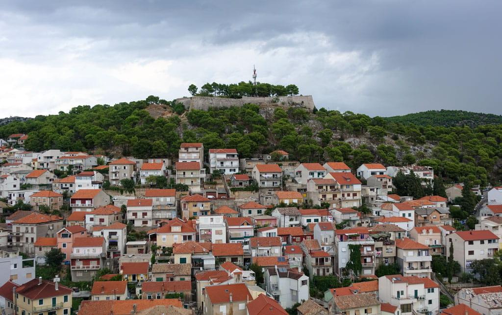 St. John's Fortress and Sibenik below