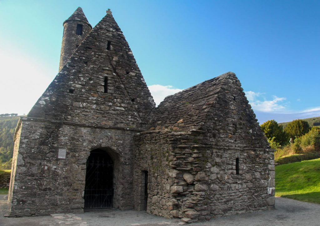 Stone building with stone roof and tower
