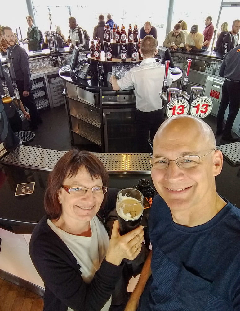 Couple in Gravity Bar Guiness Storehouse Dublin