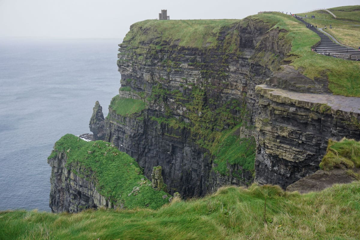 Ireland's Cliffs of Moher with path on right