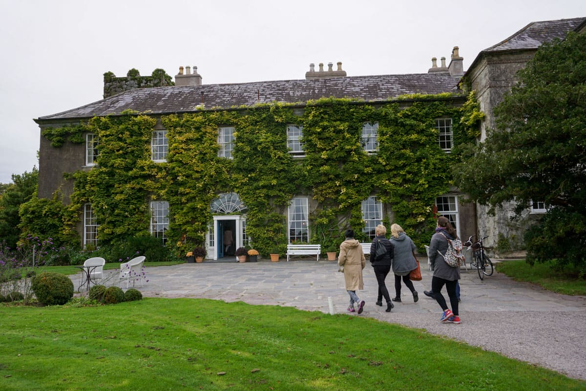 People walking to front door Ballymaloe Hotel