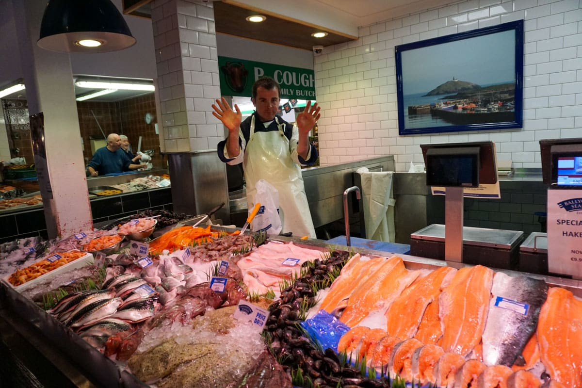 Fish vendor's display English Market Cork Ireland