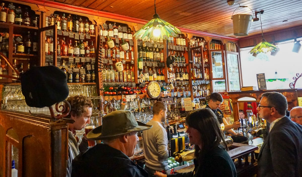 Inside busy pub Dingle Ireland