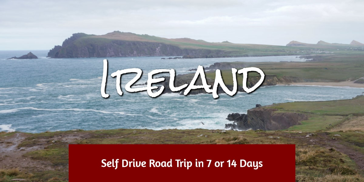 Ireland coastal bays and cliffs
