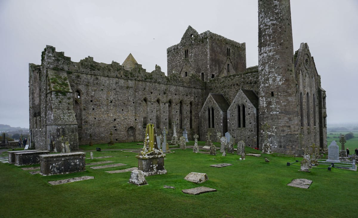 Ireland's Rock of Cashel fortress and graveyard