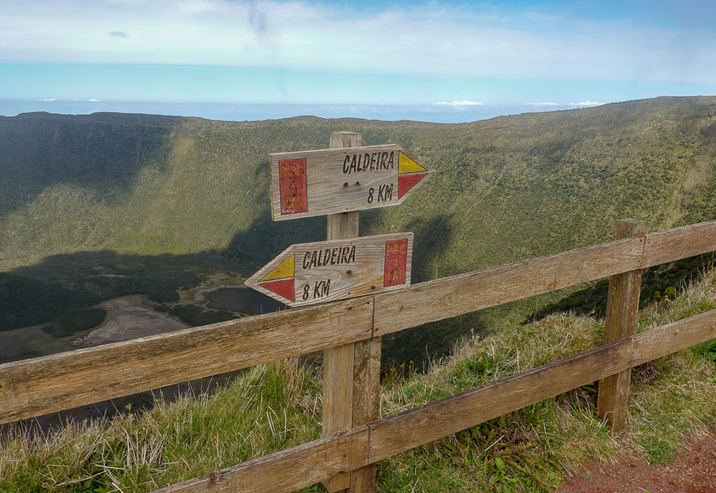 Directional Signs Caldeira Trail Faial