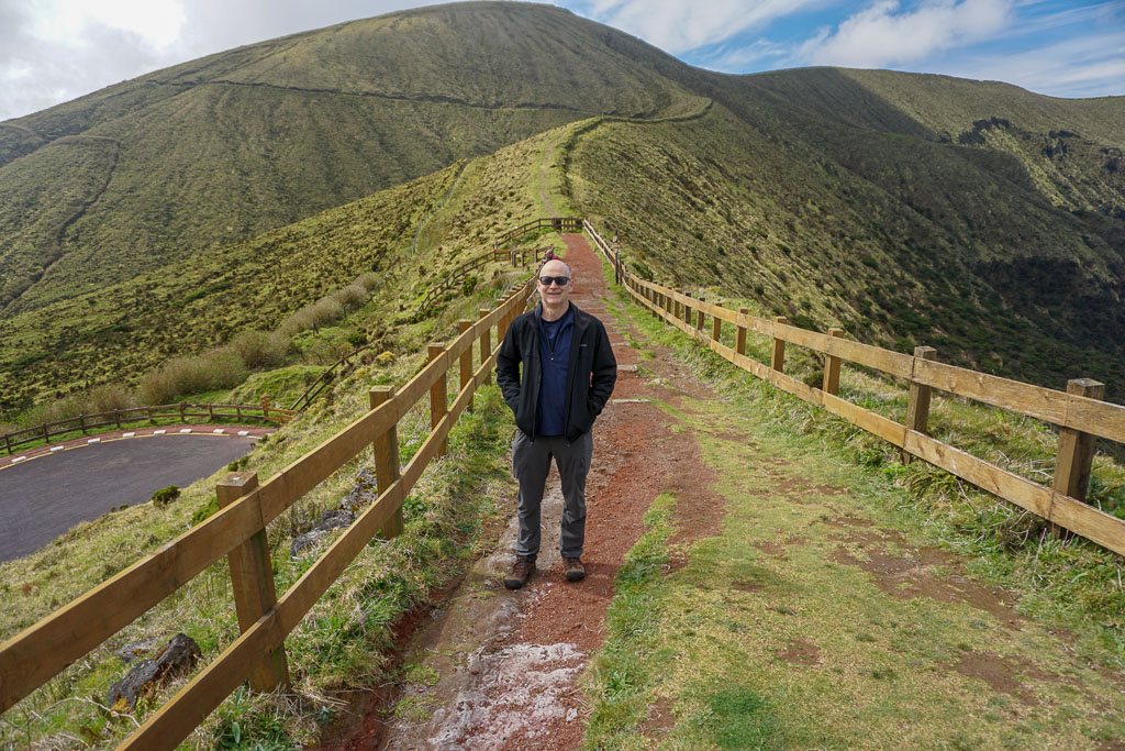 Standing on the Caldeira Trail Faial