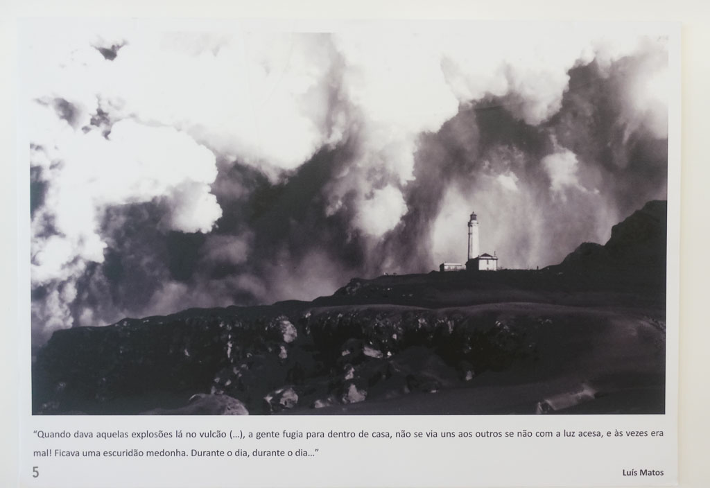 Historic photo 1957 Eruption Faial Capelinhos Volcano