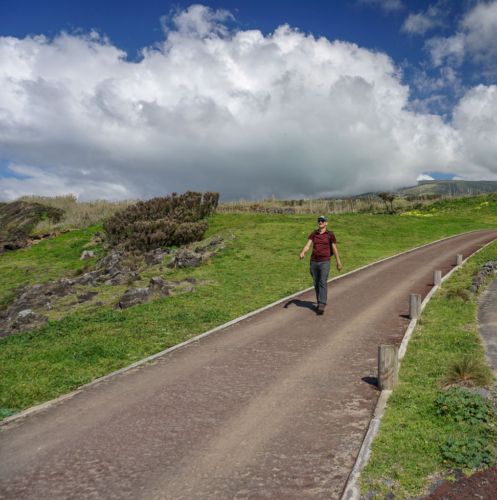 Hiking along the Morro de Castelo Branco Trail Faial