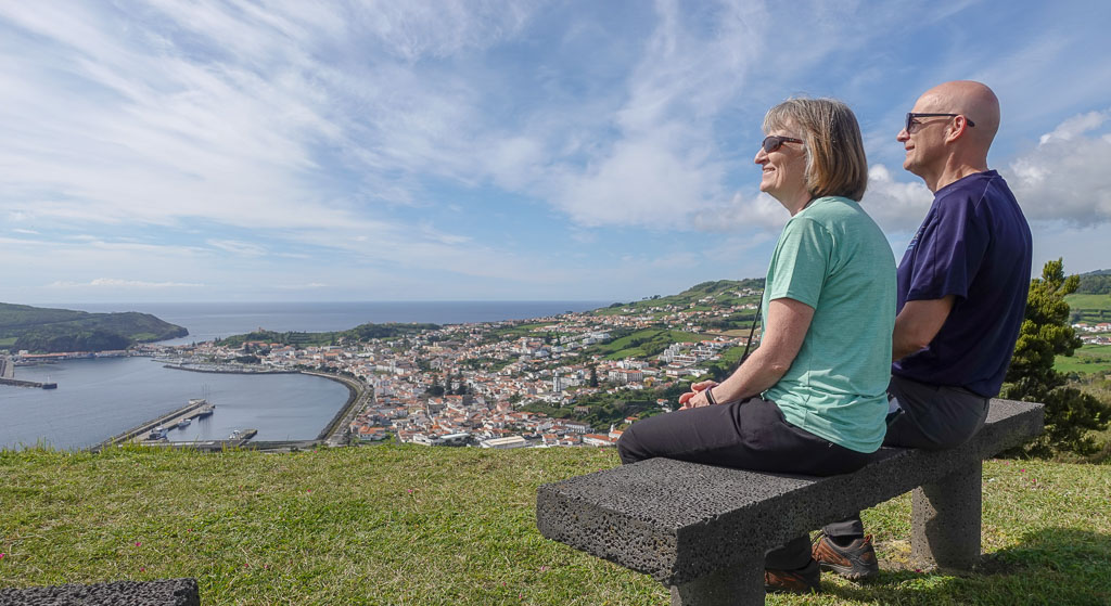 Horta Faial from Nossa Senhora da Conceicao Viewpoint