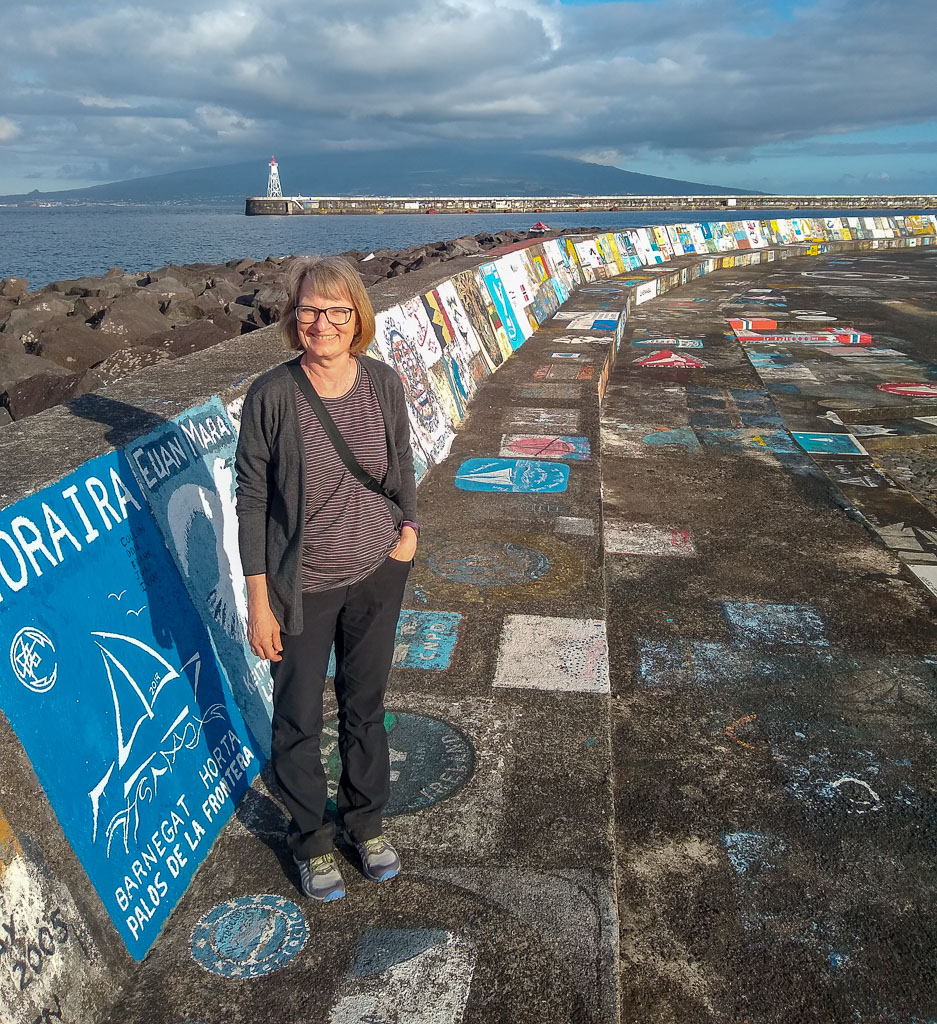 Artwork on Horta Sea Wall Faial