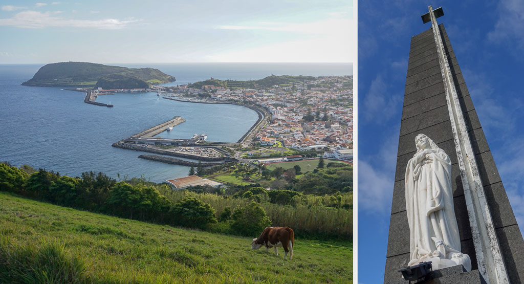 View of Horta from Nossa Senhora Conceicao Viewpoint Faial