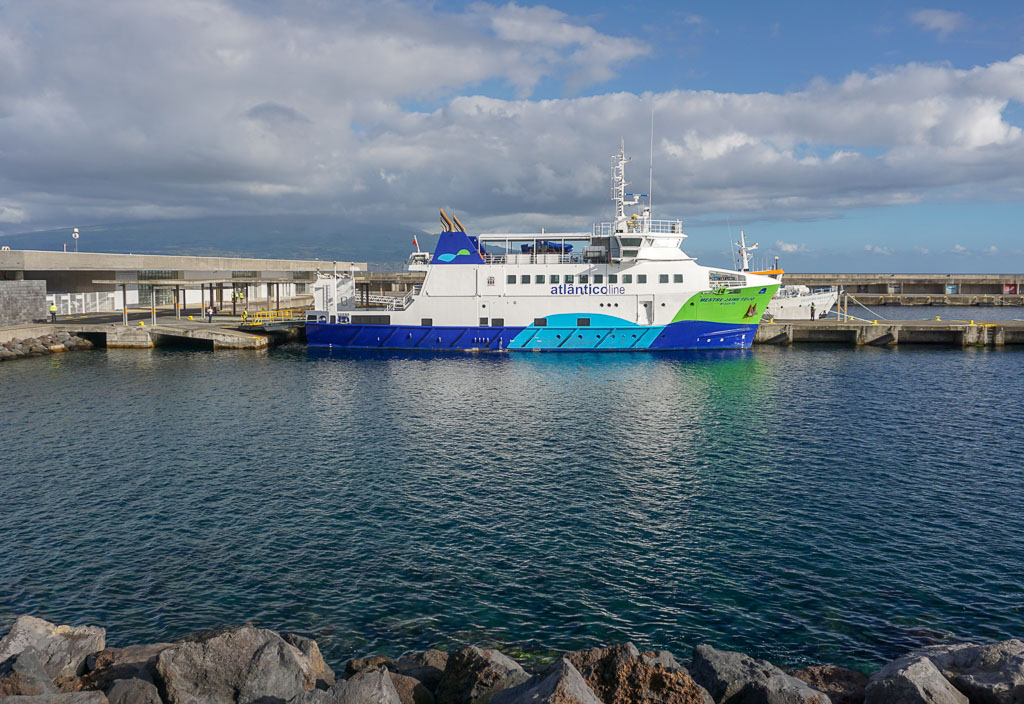 Passenger Ferry at Horta Port Terminal Faial