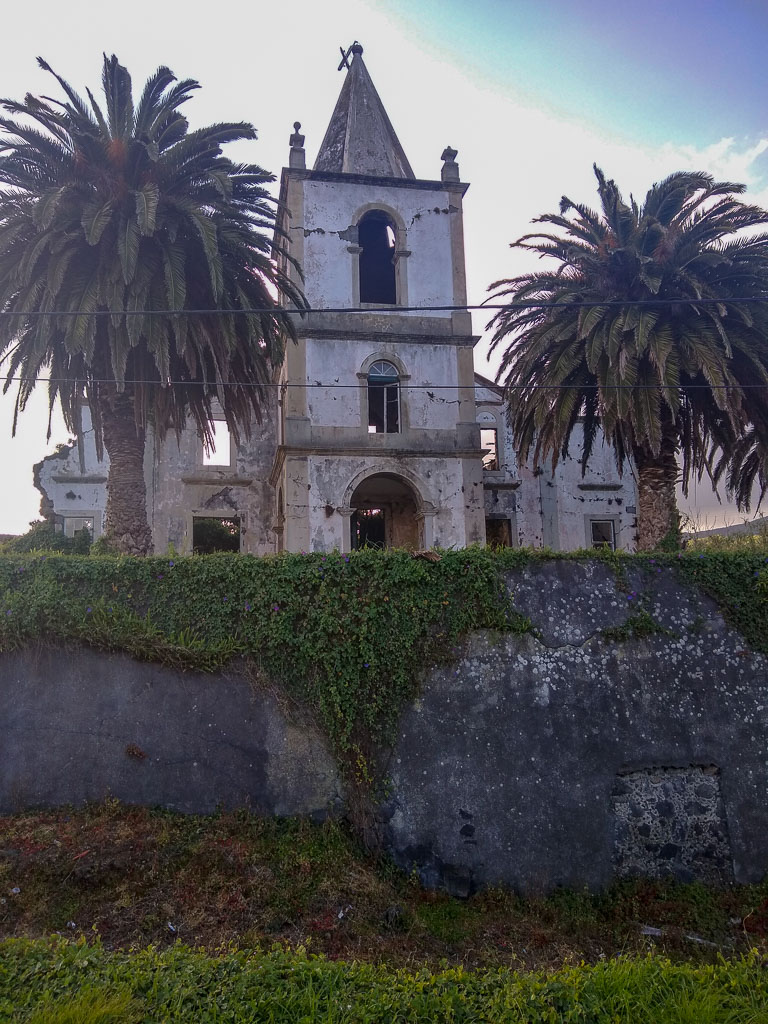 Pedro Miguel Church Faial damaged by 1998 earthquake